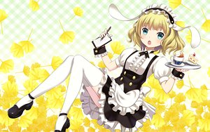 Rating: Safe Score: 154 Tags: cake drink food gochuumon_wa_usagi_desu_ka? kirima_sharo waitress youbou User: RyuZU