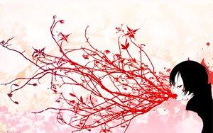 Rating: Safe Score: 25 Tags: black_hair blood chalk_karasu flowers leaves red_eyes short_hair sky tree watermark User: Oyashiro-sama