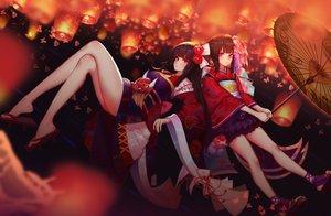 Rating: Safe Score: 97 Tags: 2girls higanbana_(onmyouji) kagura_(onmyouji) onmyouji tagme_(artist) User: luckyluna