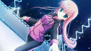 Rating: Safe Score: 89 Tags: aqua_eyes azuma_yoru game_cg hatsuyuki_sakura long_hair night pink_hair saga_planets sky snow toranosuke User: Wiresetc
