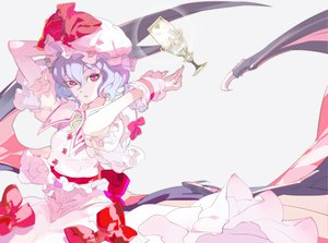 Rating: Safe Score: 27 Tags: 119 hat pink_eyes remilia_scarlet short_hair touhou vampire wings User: Kunimura