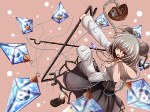 Rating: Safe Score: 19 Tags: animal animal_ears gray_hair mouse mousegirl nazrin red_eyes short_hair tail touhou weapon User: w7382001
