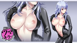 Rating: Questionable Score: 304 Tags: blue_hair bodysuit breasts mochizuki_nozomu nipples no_bra ole ore_wa_tsumakiller red_eyes skintight tattoo wet zoom_layer User: Wiresetc
