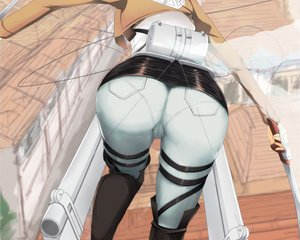 Rating: Questionable Score: 260 Tags: ass ckros-15 close cropped mikasa_ackerman shingeki_no_kyojin sword waifu2x weapon User: mattiasc02