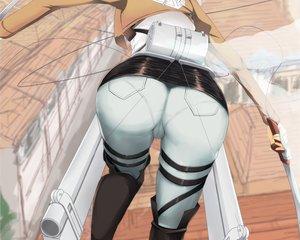 Rating: Questionable Score: 371 Tags: ass ckros-15 close cropped mikasa_ackerman shingeki_no_kyojin sword waifu2x weapon User: mattiasc02
