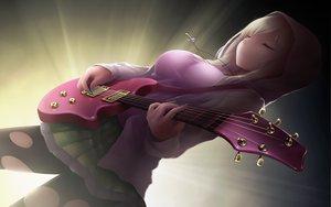 Rating: Safe Score: 237 Tags: blonde_hair boku_wa_tomodachi_ga_sukunai cait guitar instrument jpeg_artifacts kashiwazaki_sena necklace pantyhose skirt torn_clothes User: Wiresetc