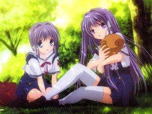 Rating: Safe Score: 40 Tags: 2girls botan clannad fujibayashi_kyou fujibayashi_ryou twins User: 秀悟