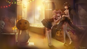Rating: Safe Score: 59 Tags: 2girls akemi_homura animal black_hair blackrabbitsoul braids breasts cat collar demon dress fire garter glasses halloween horns kaname_madoka kyuubee long_hair mahou_shoujo_madoka_magica mask pink_hair pointed_ears ponytail pumpkin purple_eyes red_eyes short_hair sideboob skull tail User: RyuZU