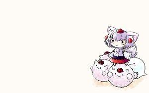 Rating: Safe Score: 17 Tags: chibi inubashiri_momiji myon touhou wolfgirl yume_shokunin User: SciFi