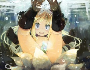 Rating: Questionable Score: 188 Tags: animal_ears blonde_hair blue_eyes boots bubbles foxgirl gloves loli multiple_tails nude original pashikiso tail underwater water User: Wiresetc