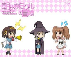 Rating: Safe Score: 37 Tags: asahina_mikuru asahina_mikuru_no_bouken chibi nagato_yuki nagian suzumiya_haruhi suzumiya_haruhi_no_yuutsu waitress witch User: Oyashiro-sama