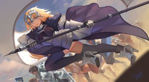 Rating: Safe Score: 25 Tags: armor bianyuanqishi blonde_hair chain elbow_gloves fate/apocrypha fate_(series) gilles_de_rais_(fate) gloves headdress jeanne_d'arc_(fate) long_hair male medea_(fate) purple_eyes thighhighs User: FormX