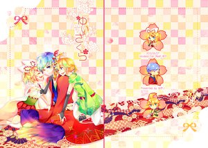 Rating: Safe Score: 23 Tags: japanese_clothes kagamine_len kagamine_rin kaito vocaloid wakiri User: MissBMoon