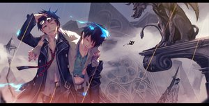Rating: Safe Score: 118 Tags: ao_no_exorcist blood monq okumura_rin okumura_yukio User: FormX