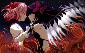 Rating: Safe Score: 20 Tags: 2girls akemi_homura akuma_homura black_hair flowers kaname_madoka long_hair mahou_shoujo_madoka_magica pink_hair short_hair shoujo_ai tagme_(artist) wings User: mattiasc02