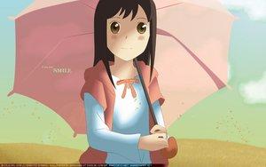 Rating: Safe Score: 11 Tags: brown_eyes brown_hair byousoku_5_centimetre long_hair petals shinohara_akari sky umbrella User: 秀悟
