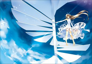 Rating: Safe Score: 51 Tags: barefoot dress flowers sky stairs tagme User: w7382001