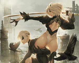 Rating: Questionable Score: 46 Tags: animal ass bird blindfold male nier nier:_automata short_hair sword tagme tagme_(artist) weapon yorha_unit_no._2_type_b yorha_unit_no._9_type_s User: luckyluna