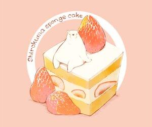 Rating: Safe Score: 18 Tags: animal bear cake chai_(artist) food fruit nobody original pink polychromatic signed strawberry User: otaku_emmy