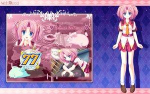 Rating: Safe Score: 33 Tags: 77 blue_eyes kazamai_sakura mikagami_mamizu pink_hair school_uniform twintails User: oranganeh