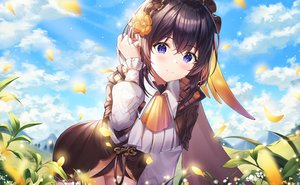 Rating: Safe Score: 65 Tags: clouds dress honkai_impact mellozzo seele_vollerei sky User: BattlequeenYume
