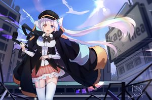 Rating: Safe Score: 57 Tags: bicolored_eyes breasts cape garter_belt hat jpeg_artifacts kagura_mea kagura_mea_channel long_hair microphone stockings tagme_(artist) thighhighs twintails User: RyuZU