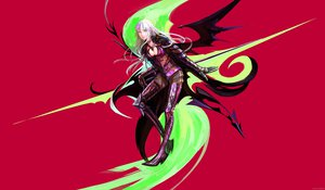 Rating: Safe Score: 49 Tags: armor arsenixc cape long_hair original red weapon white_hair wings User: opai