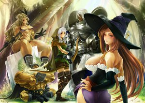 Rating: Safe Score: 44 Tags: amazon_(dragon's_crown) armor boots breasts cleavage dragon's_crown elf_(dragon's_crown) hat long_hair palch pointed_ears sorceress_(dragon's_crown) thighhighs User: opai