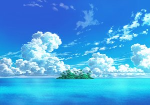 Rating: Safe Score: 44 Tags: clouds jpeg_artifacts landscape nobody original scenic sky tagme_(artist) tree water User: RyuZU