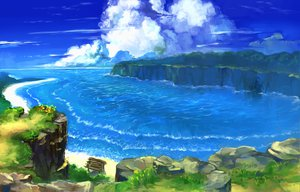 Rating: Safe Score: 134 Tags: benitama clouds original sky summer water User: FormX