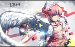 Rating: Safe Score: 83 Tags: choker gloves hk_(zxd0554) jpeg_artifacts kaname_madoka mahou_shoujo_madoka_magica pink_hair ribbons wings yellow_eyes User: Flandre93