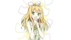 Rating: Safe Score: 108 Tags: azuki_azusa blonde_hair dress green_eyes hentai_ouji_to_warawanai_neko long_hair ribbons sky_(freedom) third-party_edit User: Dummy