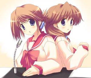 Rating: Safe Score: 9 Tags: aquaplus komaki_ikuno komaki_manaka leaf school_uniform tagme to_heart to_heart_2 User: 秀悟