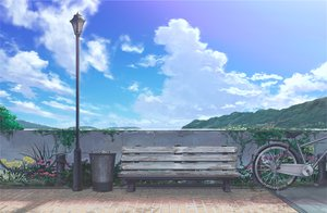 Rating: Safe Score: 51 Tags: aruken bicycle clouds flowers nobody original park scenic sky User: mattiasc02