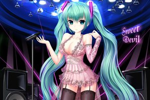 Rating: Questionable Score: 247 Tags: aqua_eyes blush bow breasts cleavage garter_belt hatsune_miku microphone see_through stockings thighhighs twintails vocaloid zheyi_parker User: gnarf1975