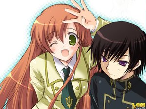 Rating: Safe Score: 12 Tags: code_geass lelouch_lamperouge male shirley_fenette wink User: lost91colors