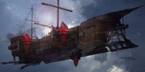 Rating: Safe Score: 63 Tags: airship animal bird boat nobody original pixiv_fantasia scenic swd3e2 User: RyuZU