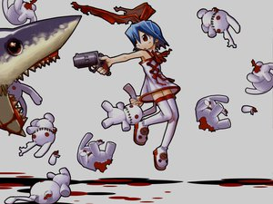 Rating: Safe Score: 27 Tags: animal blood bunny disgaea gray gun mazda pleinair weapon User: Oyashiro-sama