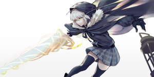 Rating: Safe Score: 70 Tags: cape csyko fate_(series) gray_hair gray_(lord_el-melloi_ii) hoodie lord_el-melloi_ii_case_files short_hair skirt sword thighhighs weapon white yellow_eyes zettai_ryouiki User: RyuZU
