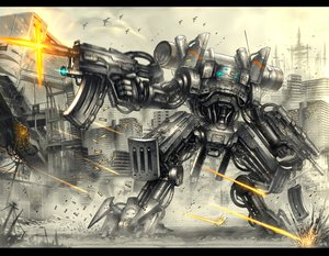 Rating: Safe Score: 87 Tags: city gia gun mecha original weapon User: FormX