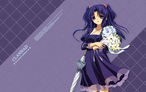 Rating: Safe Score: 37 Tags: clannad flowers ichinose_kotomi umbrella User: Wizzard