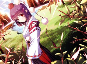 Rating: Safe Score: 162 Tags: grass japanese_clothes miko purple_hair red_eyes shameimaru_aya short_hair touhou water windfeathers User: opai