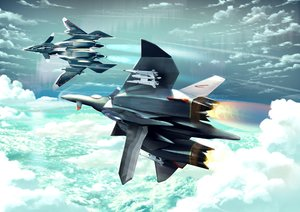 Rating: Safe Score: 34 Tags: aircraft clouds military original sentou_yousei_yukikaze sky yonasawa User: RyuZU