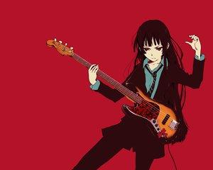 Rating: Safe Score: 34 Tags: akiyama_mio guitar instrument k-on! red User: anaraquelk2