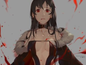Rating: Safe Score: 38 Tags: black_hair blood breasts choker consort_yu dress fate/grand_order fate_(series) gray long_hair red_eyes reichiou watermark User: otaku_emmy