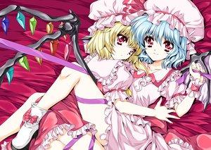 Rating: Safe Score: 52 Tags: 2girls flandre_scarlet remilia_scarlet ribbons tagme tamiya_akito touhou vampire User: opai