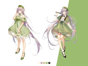 Rating: Safe Score: 38 Tags: dress green_eyes hat long_hair luo_tianyi purple_hair tidsean twintails vocaloid vsinger User: BattlequeenYume