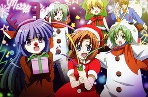 Rating: Safe Score: 21 Tags: christmas furude_rika higurashi_no_naku_koro_ni houjou_satoko maebara_keiichi ryuuguu_rena sonozaki_mion sonozaki_shion User: Oyashiro-sama
