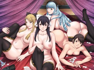 Rating: Questionable Score: 78 Tags: group lewdness_vita_sexualis nipples nude panties sei_shoujo topless underwear User: RoronoAxMihawK