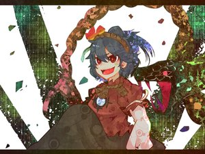 Rating: Safe Score: 33 Tags: animal black_hair dress fang headband itomugi-kun red_eyes short_hair snake touhou translation_request yasaka_kanako User: minabiStrikesAgain